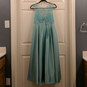 Mint green pageant dress
